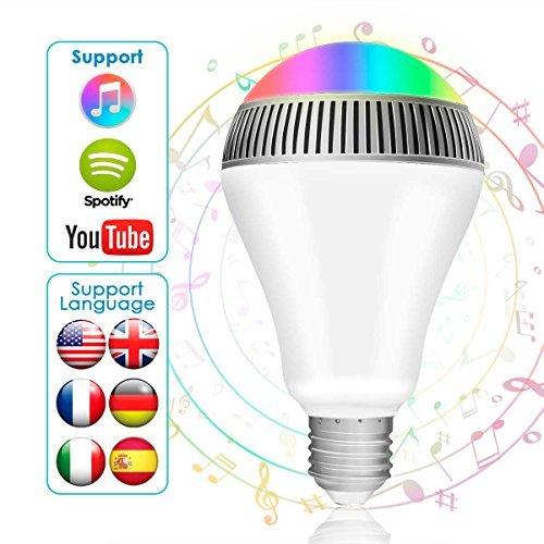 Zoom IMG-1 lampadina bluetooth altoparlante morpilot led