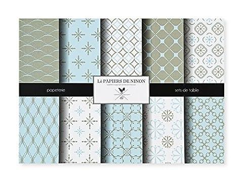 Lé Papiers de Ninon Perfect Patterns Sets de Table Papier Multicolore 48.5 x 36.5 cm
