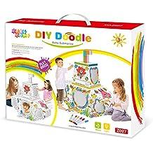 Leo & Emma Doodle Casa de Juguete DIY Dibujar sintética Juego de Manualidades para niños cartón