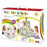 Leo & Emma Doodle Casa de Juguete DIY Dibujar sintética Juego de Manualidades para niños cartón...