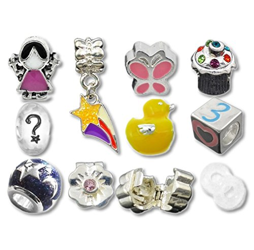 Nur für Mädchen Kinderzimmerreim Beads und Charms kompatibel mit Pandora Armbändern Lila (Pro Schmuck Pandora Armband)