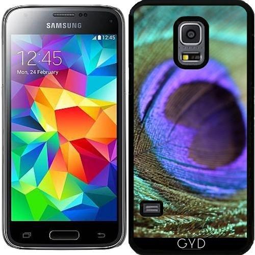 DesignedByIndependentArtists Hülle für Samsung Galaxy S5 Mini - Pfau Vogelfeder Tier by ()