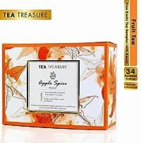 TeaTreasure Apple Spice Fruit Tea - Infusion of Apple and Cinnamon with Assam Black Tea - 2 Teabox