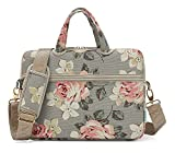 Best kayond Messenger Bags - KAYOND Gray Rose Patten Canvas Laptop Shoulder Messenger Review