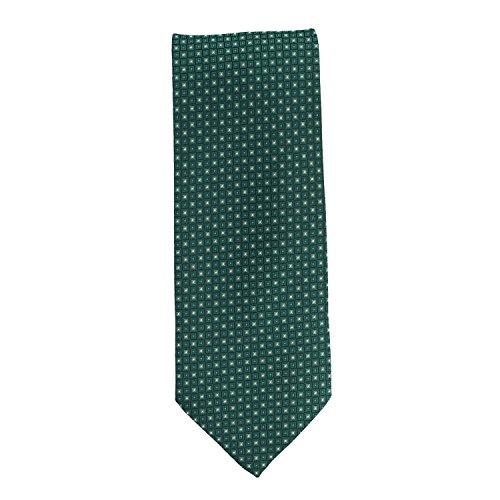 Corbata de seda verde 8 cm