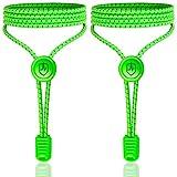 High Pulse Schnellschnürsystem - EIN Paar elastische Schnürsenkel mit Schnellverschluss für einen perfekten Sitz und sicheren Halt (Neongrün)