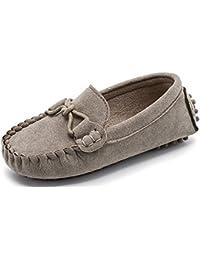 Scarpe per Bambini e Ragazze Mocassini Scivolare su Pelle Scamosciata  Ragazzi Pantofola Vestito Mocassini Scarpe per 9998973522f