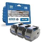Refresh Cartridges Kompatible Ersatz Farbband für Francotyp Postalia 58.0034.3071.00(blau)