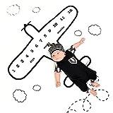 Neugeborene Baby Fotografie Requisiten Musselin, Print Decken mit monatlichen Wachstum Diagramm Hintergrund Baby Kleinkind Foto Requisiten
