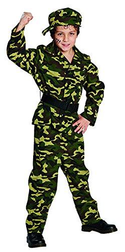 Kämpfer Soldat Kinderkostüm 4-tlg. Set (116)