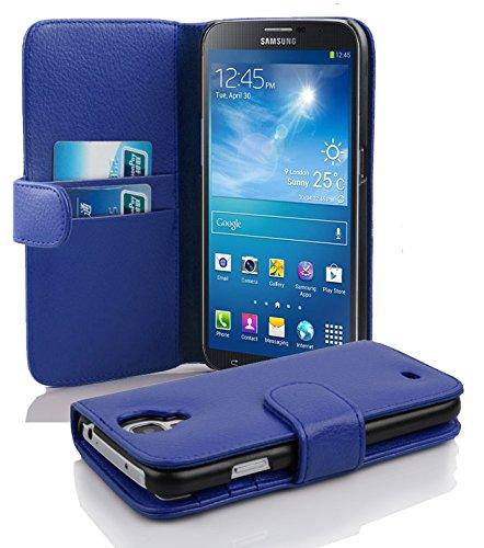 Cadorabo Hülle für Samsung Galaxy MEGA 6.3 - Hülle in KÖNIGS BLAU - Handyhülle mit Kartenfach aus struktriertem Kunstleder - Case Cover Schutzhülle Etui Tasche Book Klapp Style (Handy Cover Galaxy Mega 2)