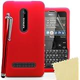 Accessory Master 5055716365450 Silikon Gel Tasche mit Displayschutzfolie und Stylus für Nokia Asha 210 Rouge preiswert