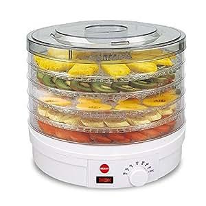 Essicatore Per Funghi, Verdure E Frutta ELDOM SG200N Crusty, 5 Vassoi Di Diametro Di 32 Centimeter, Potenza 245 Watt