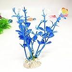 LAAT 10pcs Artificial Aquatic Plant Decoration for Aquarium Plastic Fish Tank Plants Accessories (2) 15