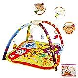 YAOBLUESEA Krabbeldecke Spieldecke Erlebnisdecke Spielbogen für Baby mit Musik