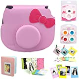 CAIUL 7 In 1 Fujifilm Hello Kitty Camera Accessories Bundle(Pink Hello Kitty Case/ Mini Album/ Close-Up Selfie Lens/ 4 Colors Close-Up Lens/ Wall Hang Frames/ Film Frame/ Film Stickers)