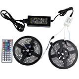 Home Garden Best Deals - Led Strips Light Flexible 300leds 5050 32.8 Ft (10M) RGB Daylight White Outdoor Lighting Strips with 44 Keys IR Remote Controller For Cars, Homes, Gardens, Kitchen, Pool, Hotels, Counter and more