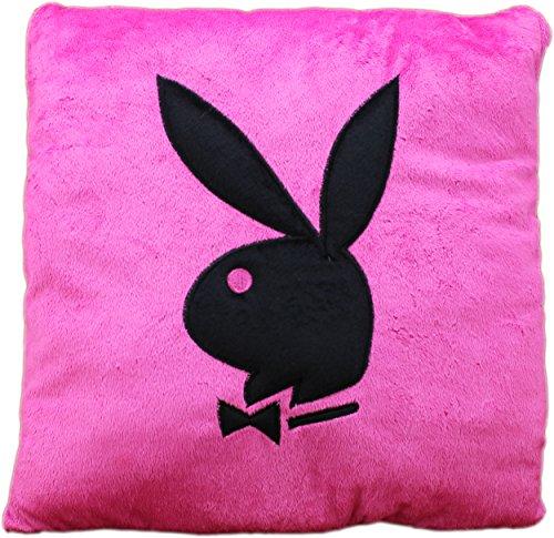 lapin-de-lapin-playboy-coussin-carre-de-40-x-40-cm-polyester-rosa-schwarz-40-x-40-cm