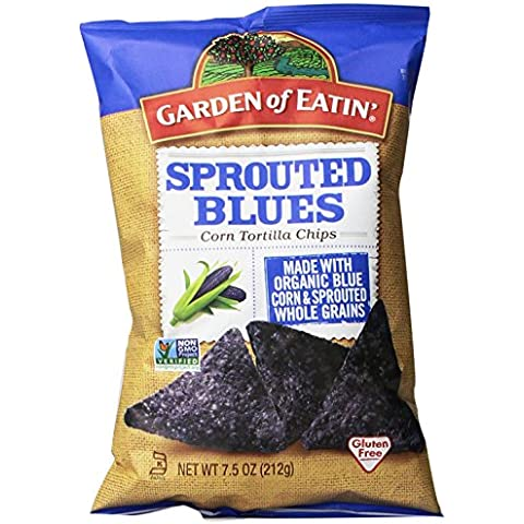 Garden of Eatin' Sprouted Blues Corn Tortilla Chips, 7.5 Ounce (Pack of 12)