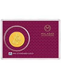 Malabar Gold and Diamonds BIS hallmarked 0.27 gm, 24k Yellow Gold Laxmi Impression Precious Coin