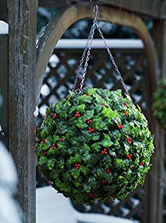 Best Artificial (TM) 30cm Holly Ball Christmas Topiary Xmas ...