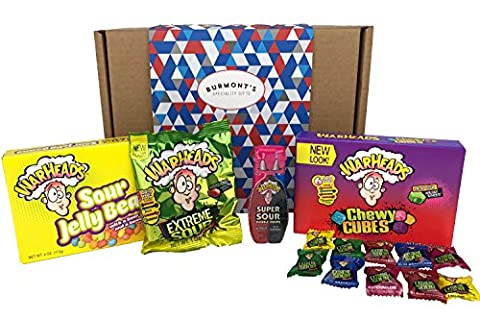 Warheads Extreme Super Sour American Candy Selection Gift Box -