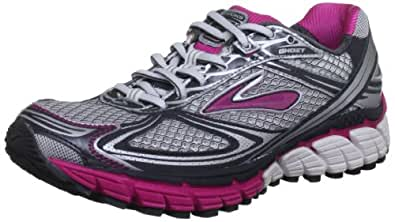Brooks Women's's Ghost 5 W Running Shoes Pink/White/Grey 3