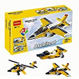Babytintin Architect Series 3 In 1 Educational Airplane Blocks Learning Bricks Toy For Kids (Super Airplane - 130 Pcs) (3105)
