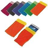 BRALEXX Funda Calcetín Textil Adecuado para Samsung Sony Apple Huawei HTC Nokia Microsoft Alcatel Motorola - Naranja, Sony Xperia Z3