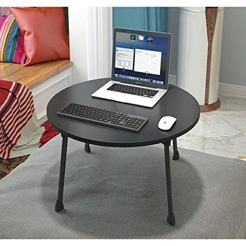 Bureau d'ordinateur Lits pour tables paresseuses Bureaux d'étudiants Dortoirs Bureaux d'ordinateur pliants Conception circulaire (Color : Black)