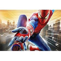 Puzzle Avengers Spider-Man, Rompecabezas de Madera, Cartel de superhéroes de Marvel, 300/500/1000 fotografía en Caja para Adultos y niños P531 (Color : E, Size : 300pc)