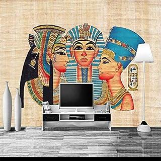 Lzxydbz 3D wallpaper Egyptian wall mural living room bedroom TV background stereo