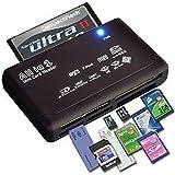 LUPO® Lecteur de carte de mémoire multi USB 1 Caméra numérique 2.0 Windows transfert pour SD SDHC Mini Micro M2 MMC XD CF