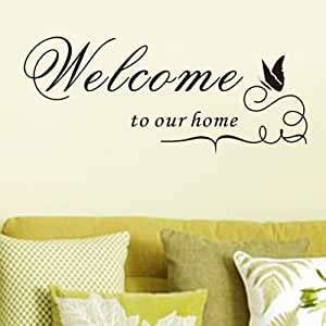 Topro Sticker mural Welcome To Our Home (Bienvenue chez nous)