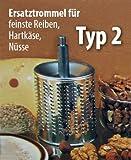 """Zusatztrommel Typ 2 """"extra-fein"""" Reibe für Nüsse"""