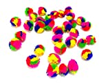 #10: Pom Pom Rainbow Balls for crafts,decorations,jewellery making,accessories,bags. Pack of 50 Rainbow Balls