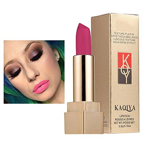Rouge à lèvres,Imperméable mat Stick lèvres lisses de rouge à lèvres cosmétique Lonshell (02#)