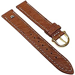 Maurice Lacroix Replacement Band Watch Band Ostrich Leather Strap light brown 22626G, width:15mm
