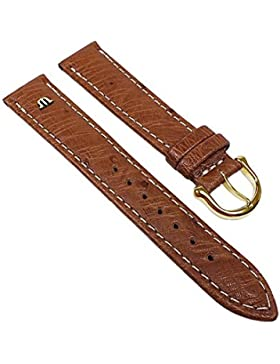 Maurice Lacroix Ersatzband Uhrenarmband Straußenleder Band Hellbraun 22626G, Stegbreite:19mm