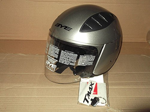 CASCO JET MOTO ORIGINALE YAMAHA BYE SUPER SONIC T-MAX COLORE SILVER TECH- TG. XL
