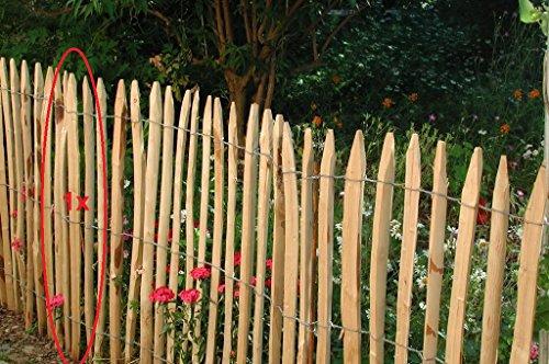 #10 Stück, Stakete französische Kastanie gespalten, 120 cm von Gartenwelt Riegelsberger#