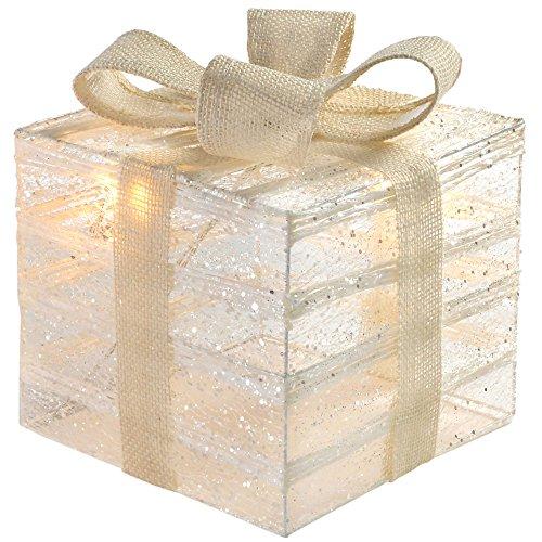 WeRChristmas 20 cm Pre-Lit papel correas elásticas y gasa en caja de...