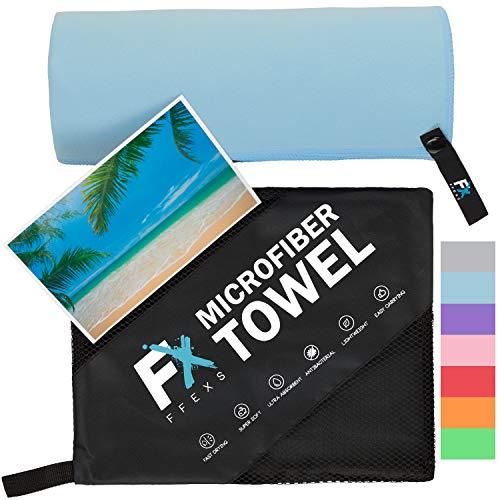 Mikrofaser Handtücher in Größen S, M, L und XL - Schnelltrocknendes und weichstes Sporthandtuch - Klein und leicht, ideal als Reisehandtuch und Strandhandtuch - Für Männer, Fraue und Kind Sauna Sport