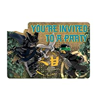Star Online Lego Ninjago Invitations -Great for all Lego Themed Parties & All Lego Fans