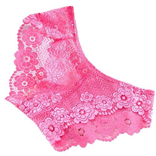 siconght Spitze Sexy Unterwäsche Frauen Bragas Panty Clearance Damen Sheer Slip Miederteil, Damen, hot pink, Size 6,8,10,12,14,16 -
