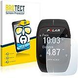 2x BROTECT HD-Clear Protector Pantalla Polar M400 Película Protectora – Transparente, Anti-Huellas