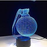 Boogie Bomb Design 3D LED Lampe Bureau Bataille Royale Cadeau pour Petit Ami Gamer...