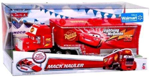 Disney Cars Mack Hauler Truck - mit Laderampe - Frachtraum für Lightning McQueen