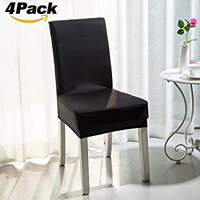 Chair Slipcovers, Rosa Schleife Elastic Stretch Removable Washable Dining Chair Cover Protector Seat Cover Slipcover for Hotel Party Hotel Banquet Dining Room Ceremony