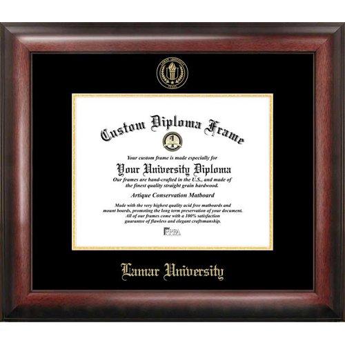 Marco de la Universidad Lamar grabada en relieve oro Diploma